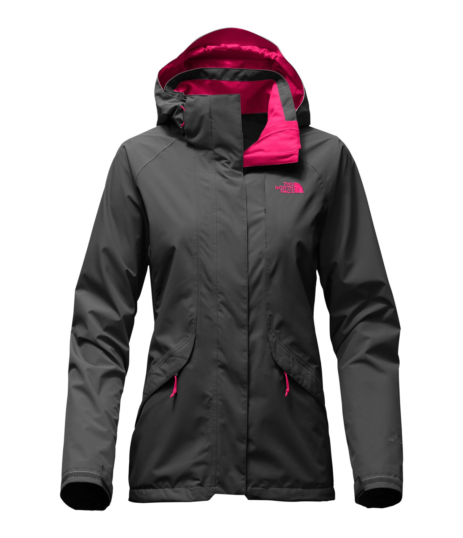 The North Face Boundary Triclimate Jacket - Women's Asphalt Grey/Cerise Pink Medium