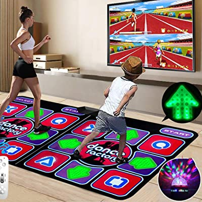 Double Dance Mat, Dance Machine TV Interface LED 3D Running Blanket Yoga Game Machine Silicone Massage Learning Machine HD Quality Light for Children: Home & Kitchen [5Bkhe0206048]