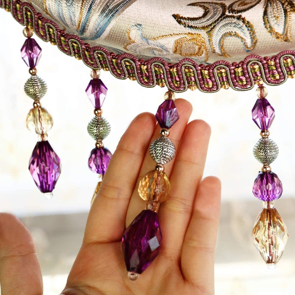 Crystal Beaded Fringe Trims Sewing Costume Crafts Curtain Cord Tassel