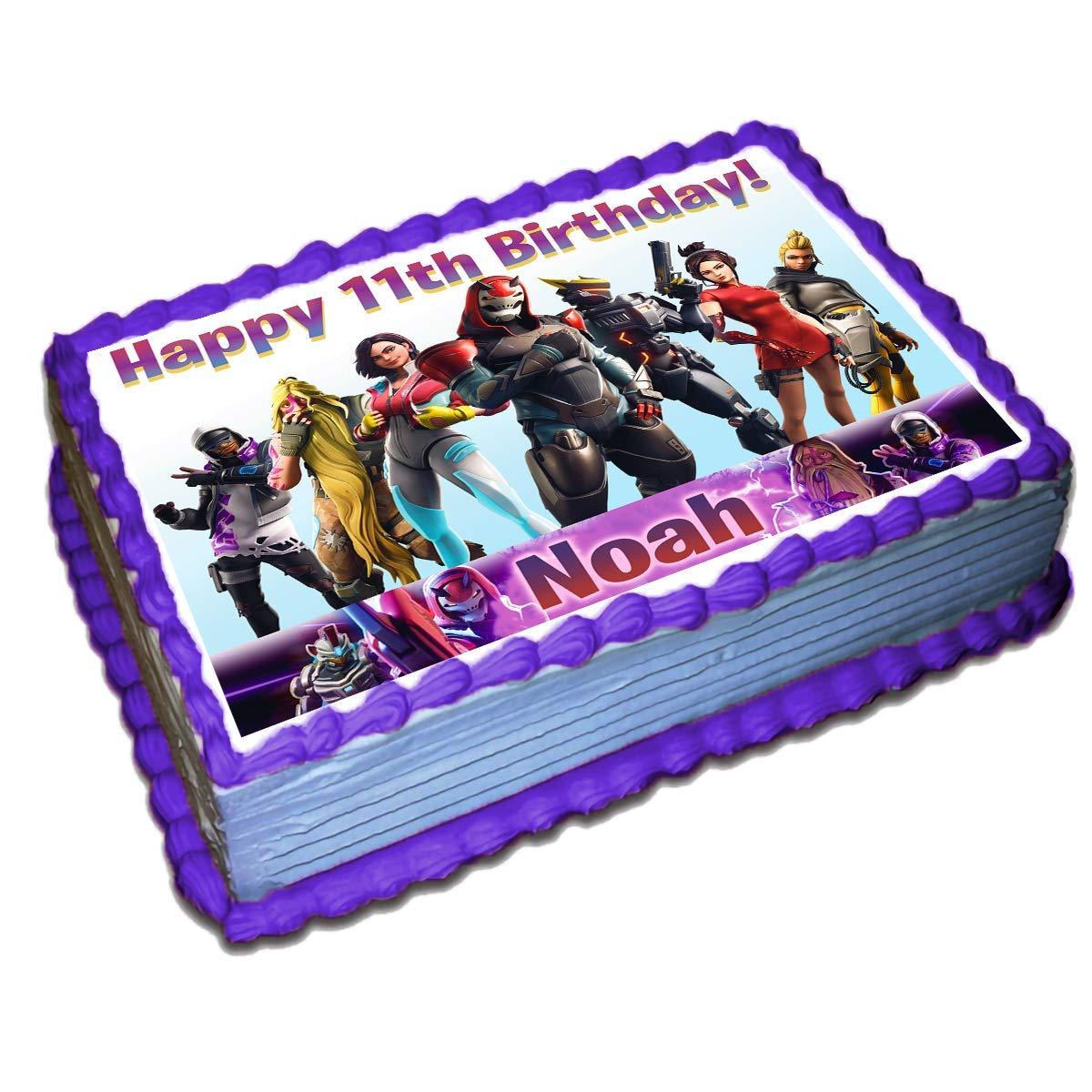 FORTNITE Season 10 Edible image Birthday Cake topper decoration