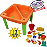Matty's Toy Stop Deluxe Sand & Water Play Table with 12 Accessories