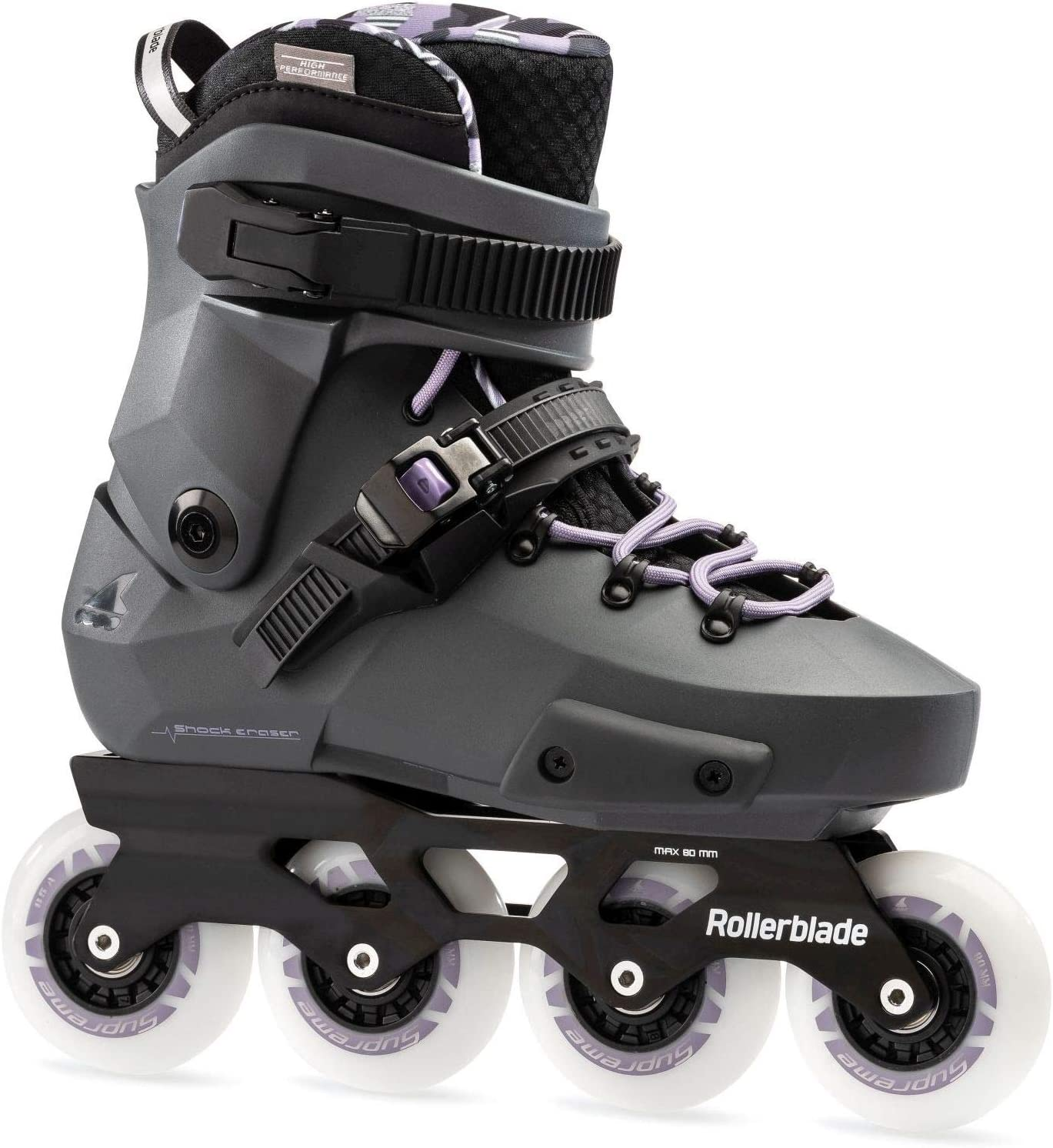 Rollerblade Twister Edge W Patines Gris, Mujeres, Anthracite/Lilac, 240