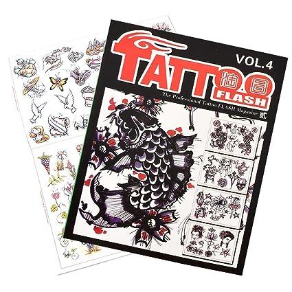 atomus profesional tatuaje Flash revista libro Sketch libro diseño ...