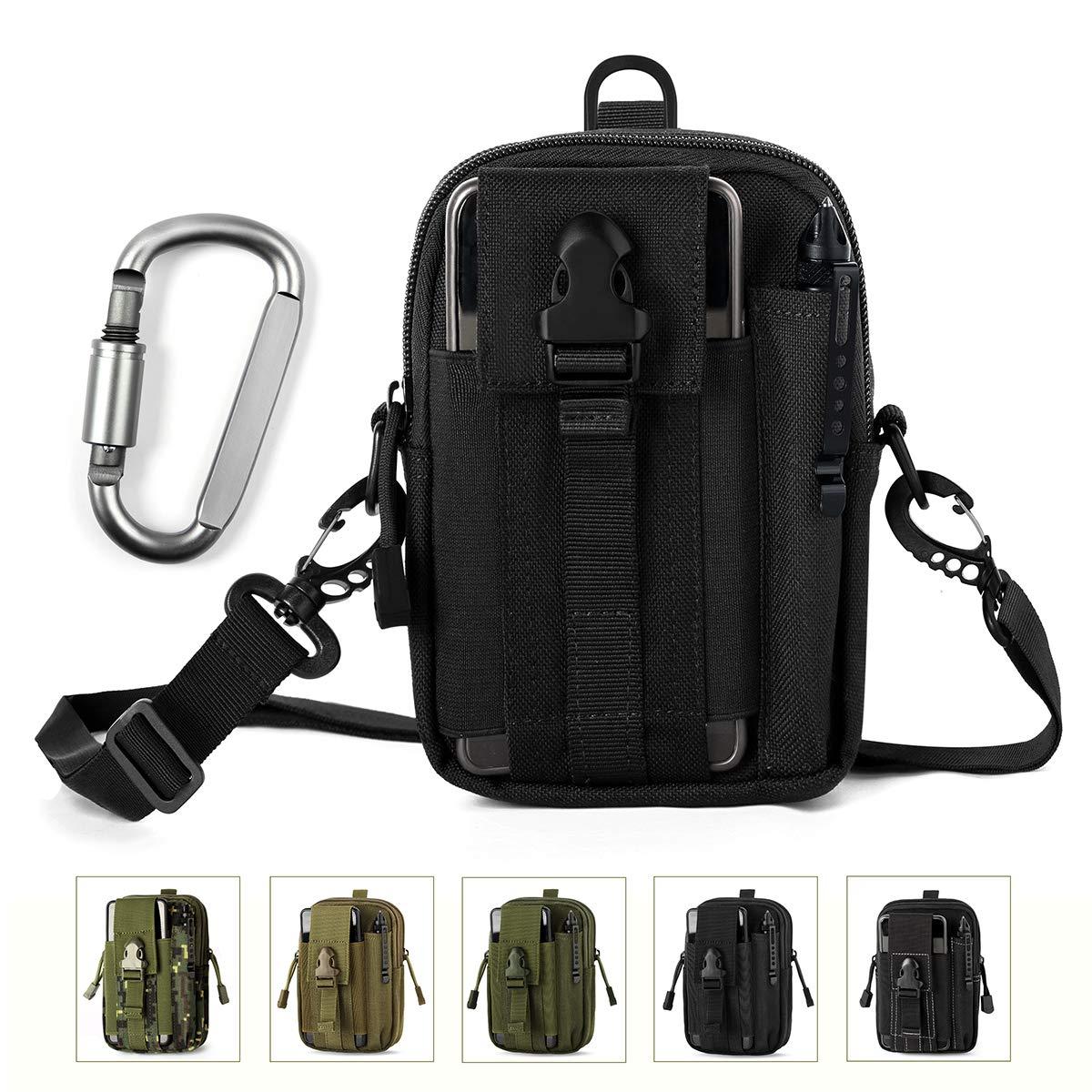 76a2c048f23 Unigear Bolsa Cintura 1000D Riñoneras Hombre Bolso Cinturón + Mosquetón  Táctico