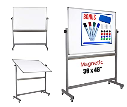 amazon com magnetic mobile whiteboard large on stand double sided