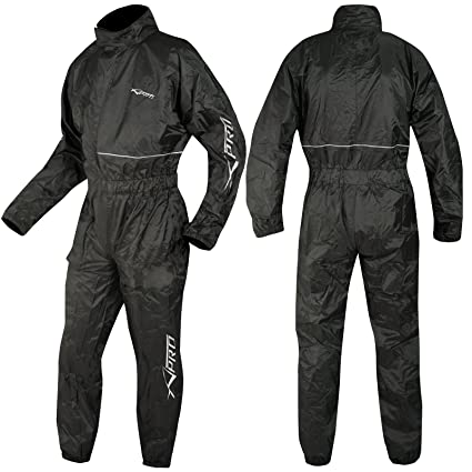 A-pro Motorcycle Motorbike Waterproof RainSuit over One 1 Pc Trousers Jacket L