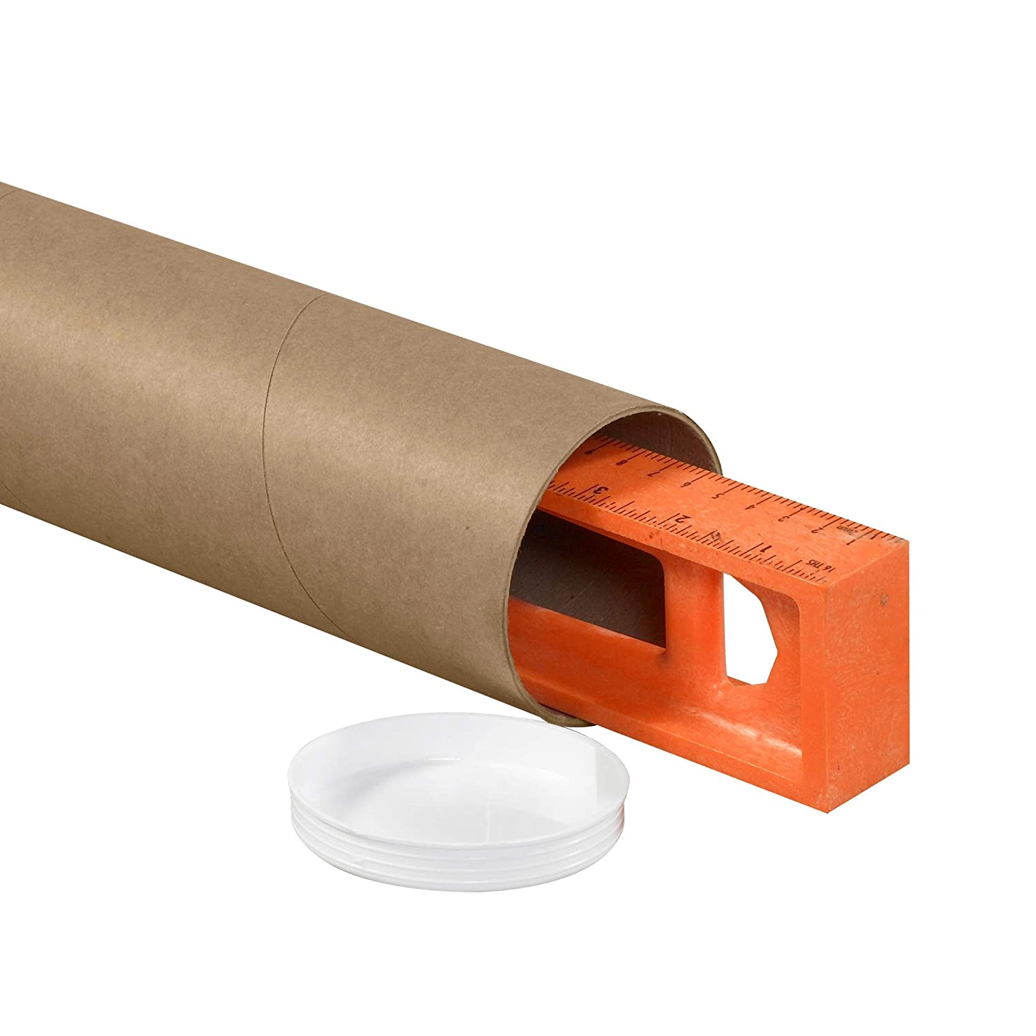 3 x 24 Pack of 24 Tape Logic TLP3024KHD Heavy-Duty Mailing Tubes with Caps Kraft