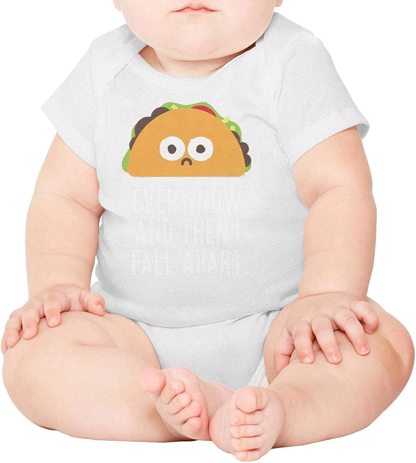 Baby Onesies Taco Every Now I Fall Apart 100/% Cotton Bodysuits Super Power Short Sleeve Bodysuit