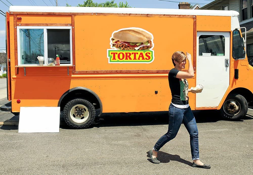 Tortas Decal Concession Stand Food Truck Sticker