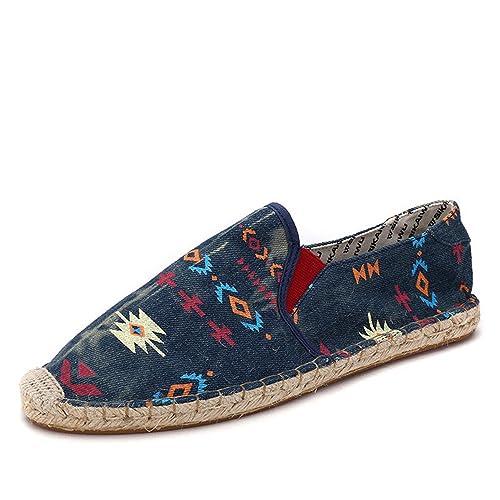 Zapatos Hombre Mocasines Hombres Zapatos Primavera Verano Alpargatas Tejidas de Moda Transpirable Hombres Zapatos Casuales Mocasines Cómodo: Amazon.es: ...