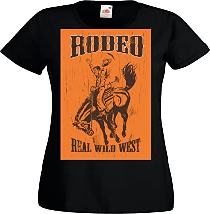 T-Shirt Camiseta Remera Rodeo del Oeste Salvaje Real de ...