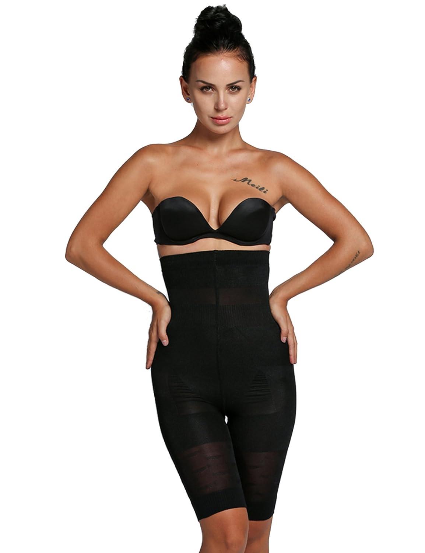 9cdd284897 Asatr Women s High Waist Thigh Slimmer Shapewear Fat Burning Slimming Body  Shaper Bodysuit