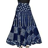 Silver Organisation Women's Cotton Multi Color Wrap Skirt Around 245_Wrap.…