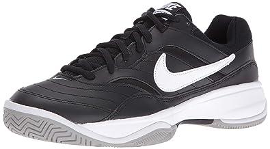 best sneakers c19b8 573ae Nike Mens Court Lite Tennis Shoes, Multicoloured (BlackWhiteMedium Grey)