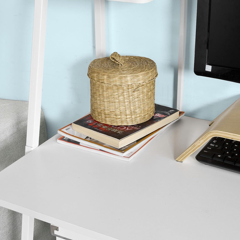 SoBuy® - Escritorio de oficina para ordenador con 3 estantes y ...