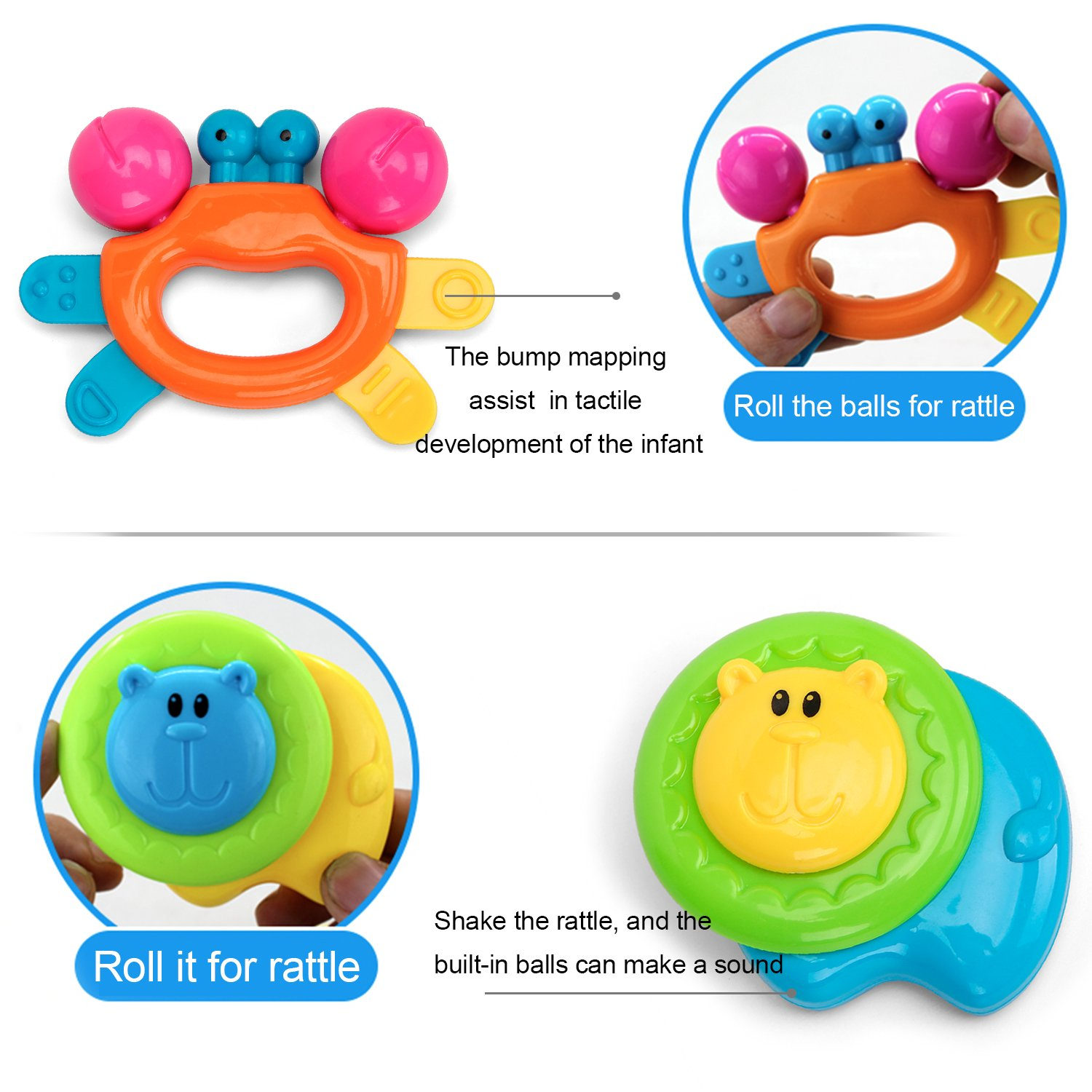 Amazon Kemuse 10 Baby Rattles Teether Ball Shaker Grab and