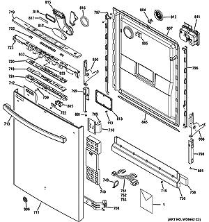 amazon ge wd34x22262 dishwasher control panel genuine original GE 3-Way Switch Wiring Diagram Smart ge wd34x21700 console cover genuine original equipment manufacturer oem part