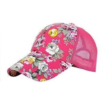 LUCKY Will Ajustable Flores Gorra Gorro Gorra Trucker Cap Sombrero Sombrero de Verano para Mujer Rosa Rosa Fluorescente: Amazon.es: Electrónica