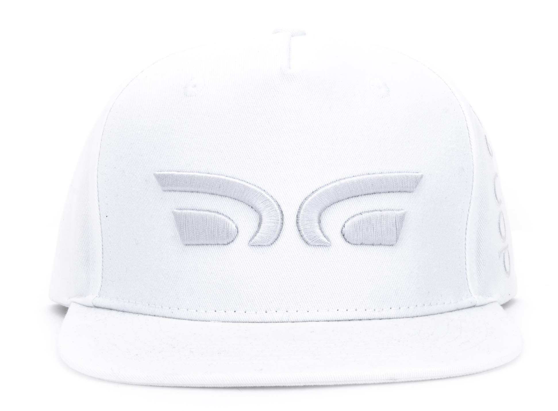 Don Cano | The Classic Cap | Icelandic Baseball Hat | Medium Profile | Embroidered 3D Logo | Fine Cotton Twill Headwear | Adjustable Buckle | One Size Fits All | DC.931 | White & Silver
