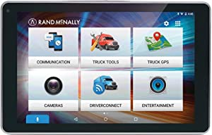 Rand McNally OverDryve 8 Pro 8in Truck GPS Tablet with Dash Cam and Bluetooth (Renewed)