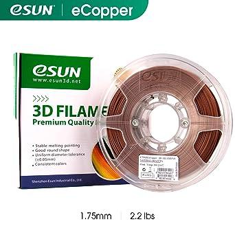 eSUN Relleno de Cobre Rojo PLA Filamento de Impresora 3D ...