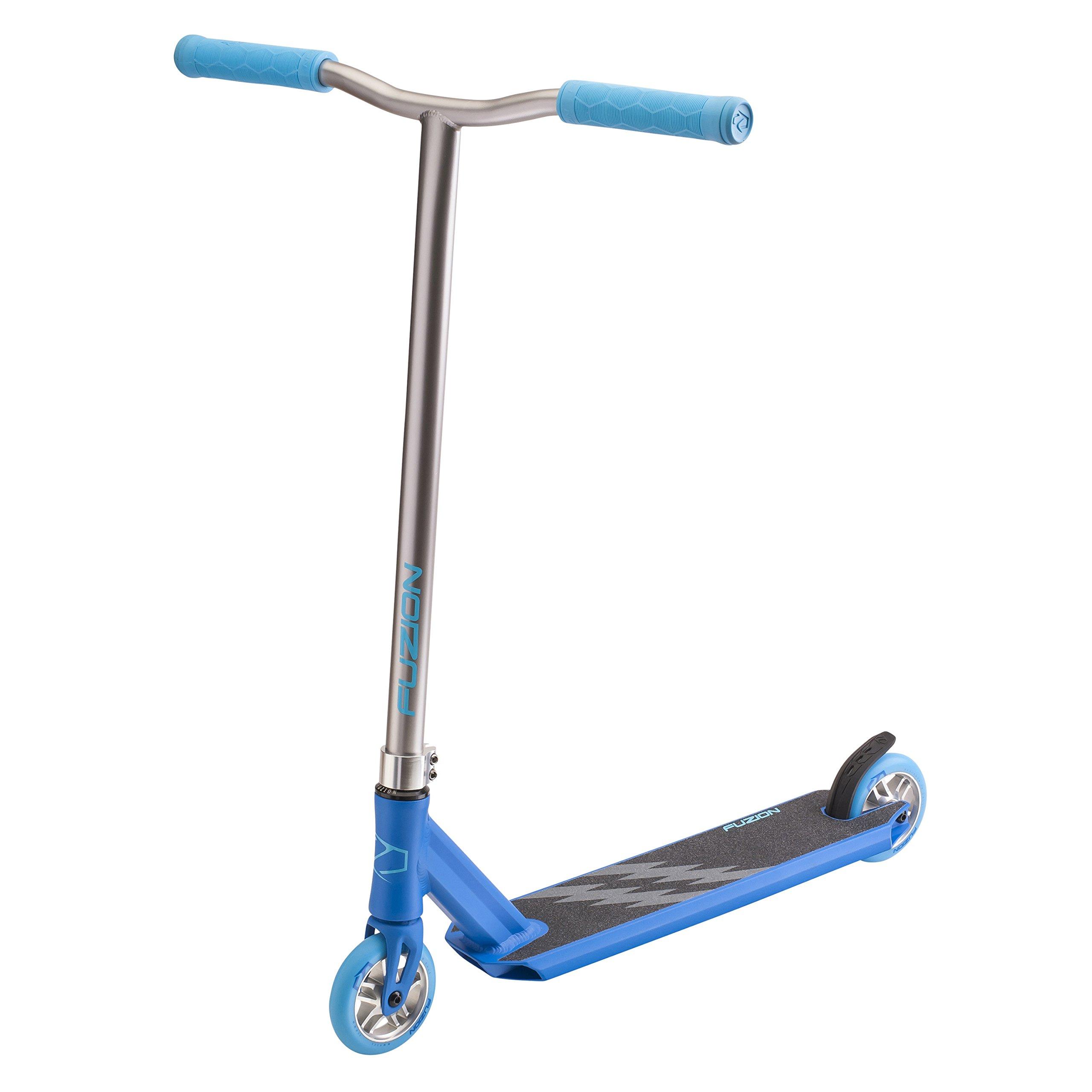 Fuzion Z250 Pro Scooter - All New Design - 4.37'' x 20.5'' Deck Dimensions - 110mm Aluminium Core Wheels - HIC Compression System -Chromoly T-Bars (2018 Blue)