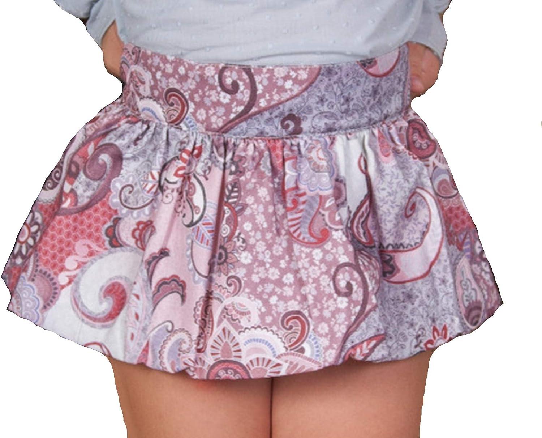 Faldas Estampadas Cachemir para Niñas |100% Algodón y Forro de ...
