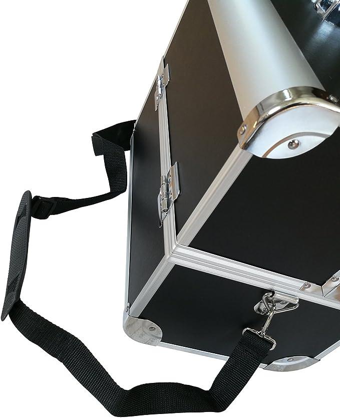 Seelux Malet/ín para Maquillaje Estuche de Maquillaje Estuche de cosm/éticos ABS de Aluminio con Cerradura y 3 cajones Negro
