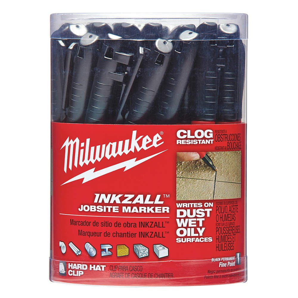 Industrial Marker, Black, Acrylic, PK36 by Milwaukee (Image #1)