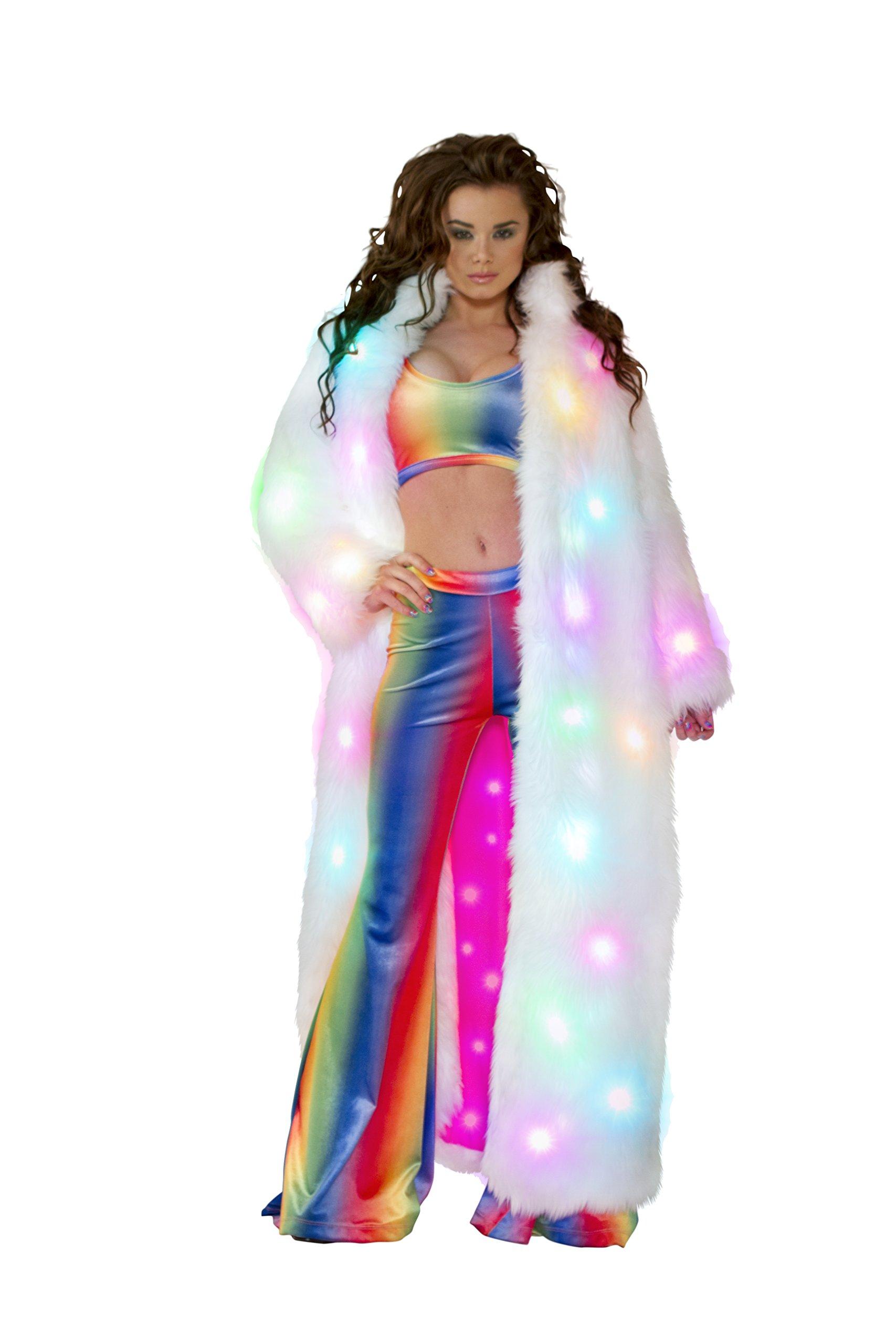J. Valentine Women's Light-Up Full-Length Coat, White, One Size