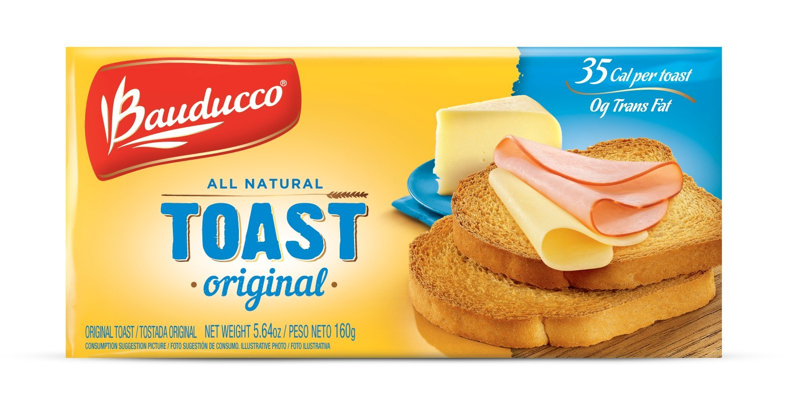 Bauducco Toast, Original, 5.64 Ounce (Pack of 16) - Packaging may vary by Bauducco