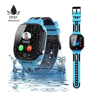 Jslai Niños Smartwatch Impermeable,Reloj Inteligente para Niños,LBS Localizador Reloj del Teléfono,Kids Smartwatch Phone con Call SOS Cámara para Niño ...