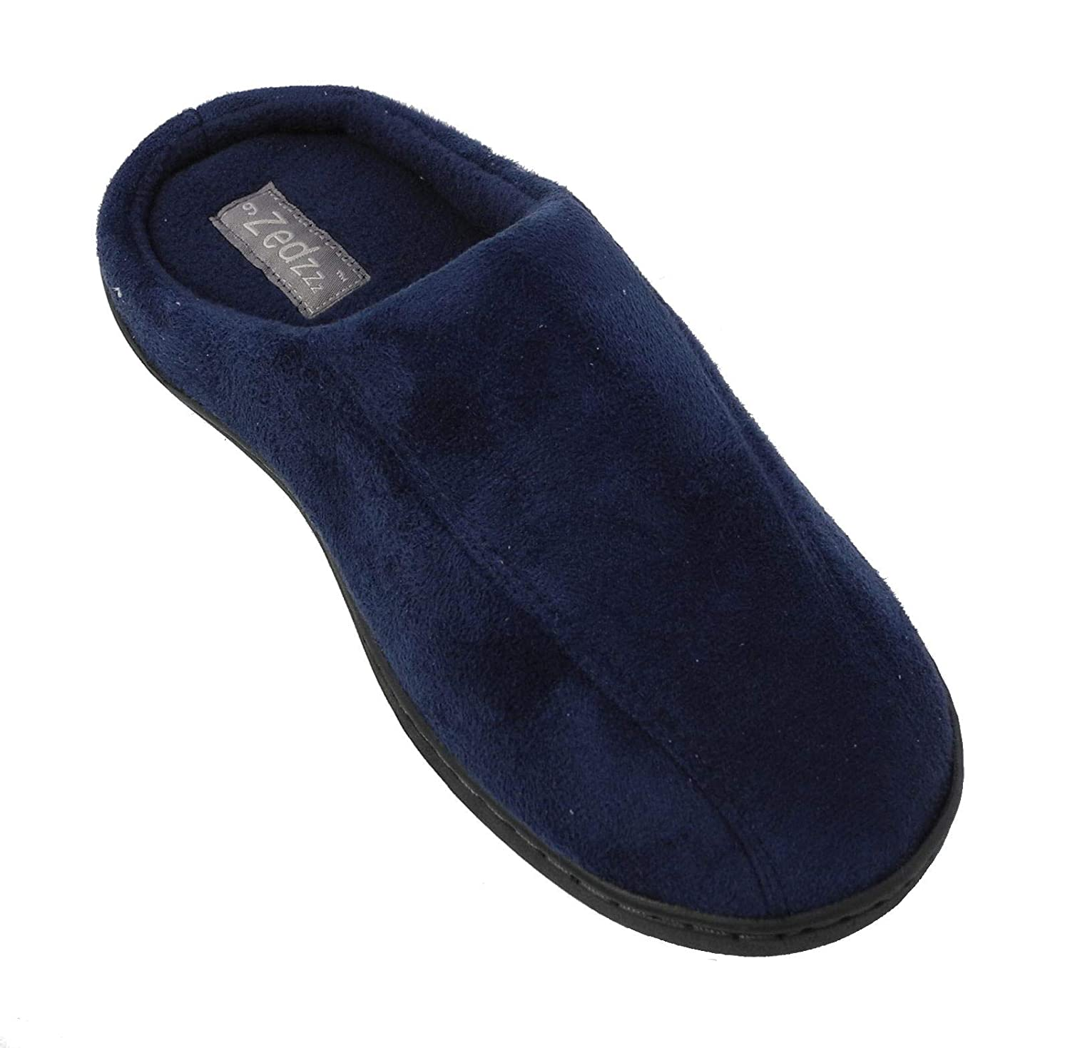 652467ec72a9a Zedzzz Mens Micro Suede Mules Slippers in Blue or Brown Sizes 6 to 12:  Amazon.co.uk: Shoes & Bags