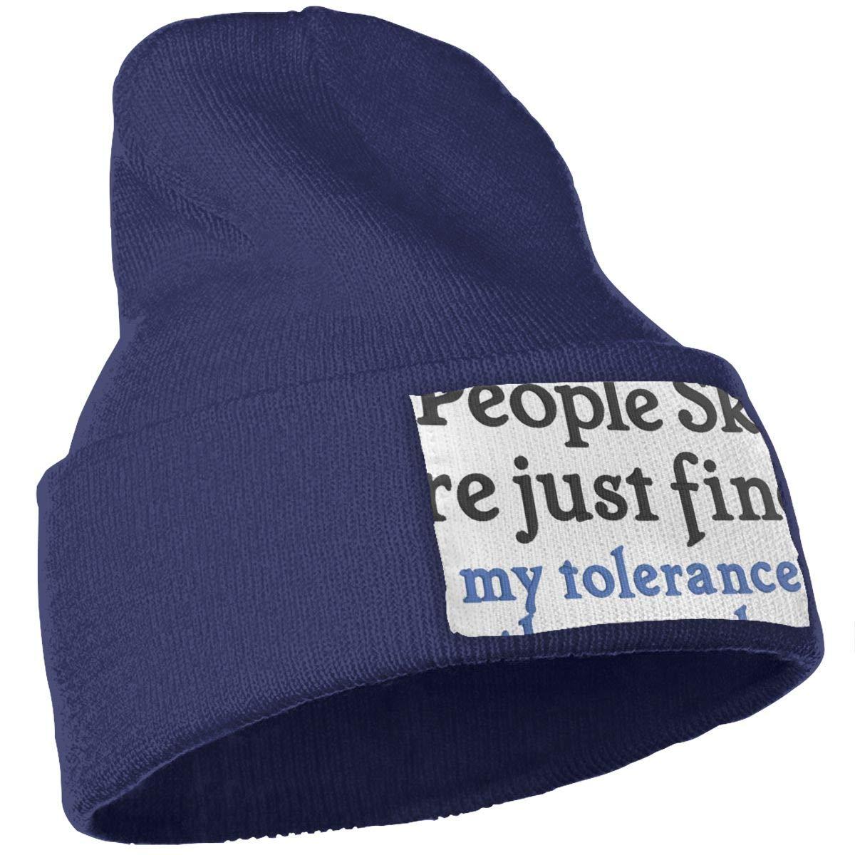 MACA Feelin Good Tees My People Skills are Fine Its My Idiots Sarcastic Unisex Slouch Beanie Hats Thick Warm /& Stylish Winter Hats Black