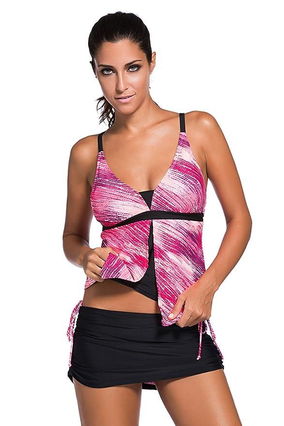 2 opinioni per Miweel Donna Mare e Piscina Sportivo Tankini Bikini Due Pezzi di Costumi da