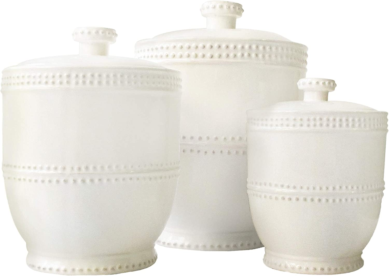 American Atelier Bianca Bead 3-Piece Canister Set