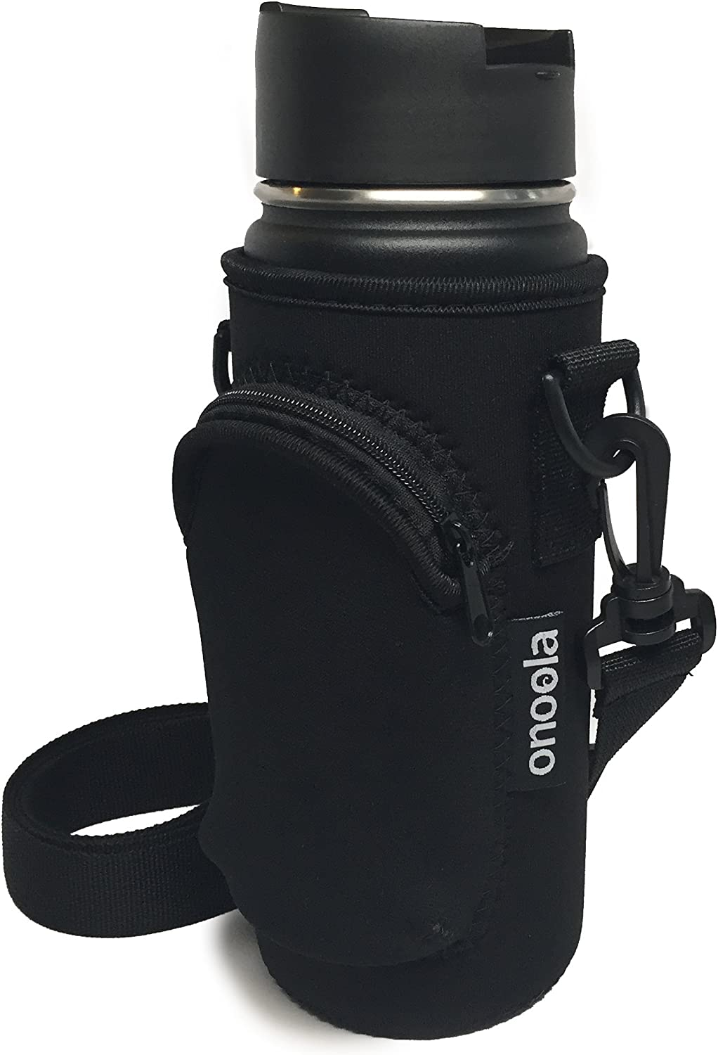 Onoola 18 oz (Also Fits 16, 20 & 21 oz) Pocket Carrier for Hydro Flask Type Bottles with Adjustable Straps (Neoprene Sleeve/Pouch)