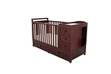 Amazoncom Athena Daphne Convertible Crib And Changer Cherry Baby