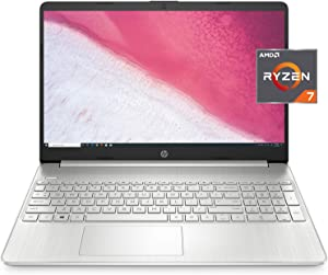 HP 15-inch HD Laptop, AMD Ryzen 7 3700U Processor, 8 GB RAM, 256 GB SSD, Windows 10 Home (15-ef0022nr, Natural Silver)