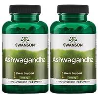 Swanson Premium Ashwagandha Powder Supplement: 450 MG Ashwagandha Root Dried Powder...