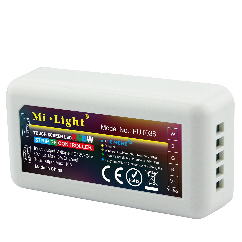 T3 LIGHTEU/® 2.4G Wand Touch-Fernschalter f/ür 4-Zonen-RGB // RGBW LED-Leuchten arbeitet mit MiLight EasyBulb usw