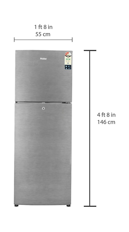 4f991cdaebd Haier 247 L 3 Star Frost Free Double Door Refrigerator(HRF-2674BS-R HRF-2674BS-E