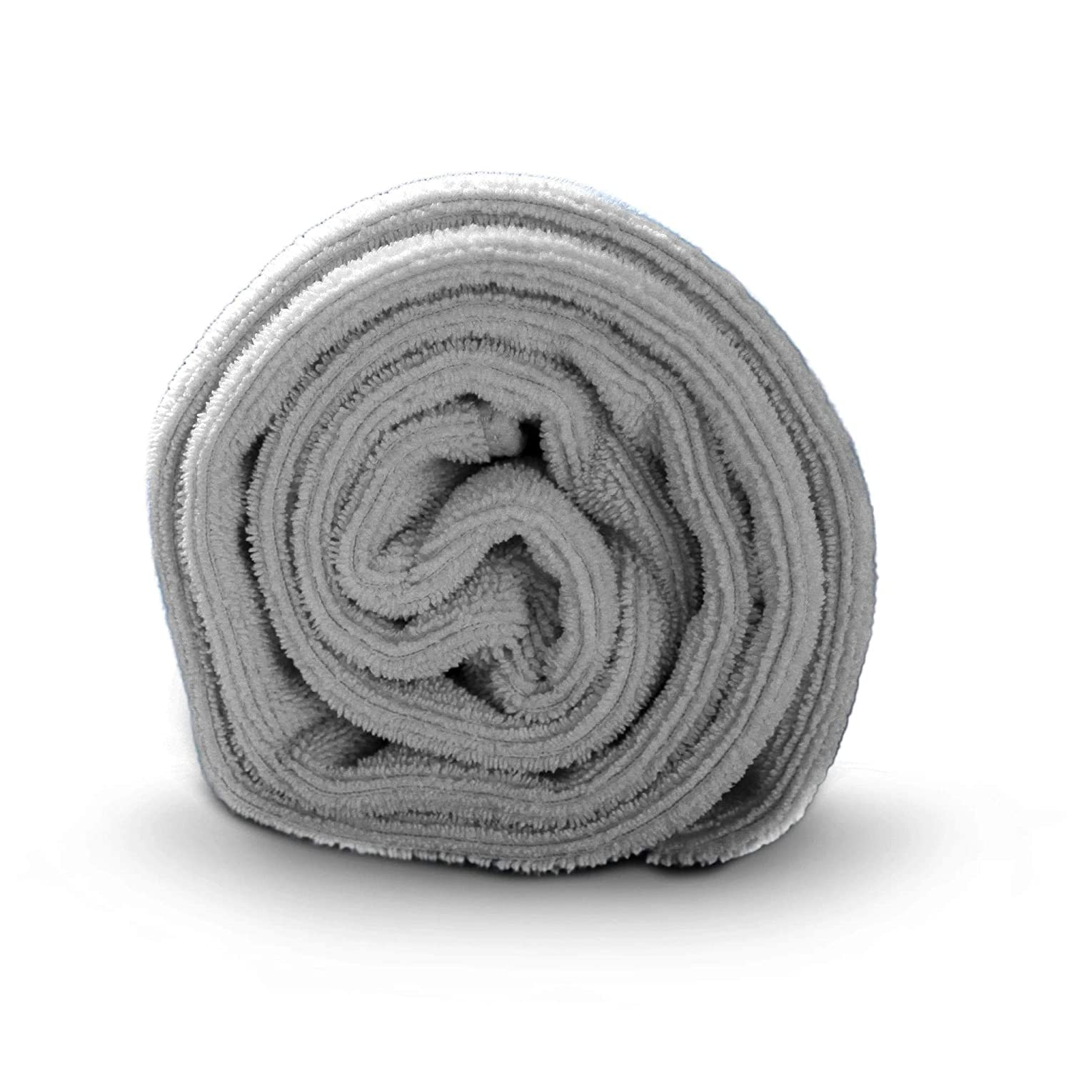 Luxe Beauty Essentials Microfiber Hair Towel For Drying Curly,Large 20 x 40 Grey