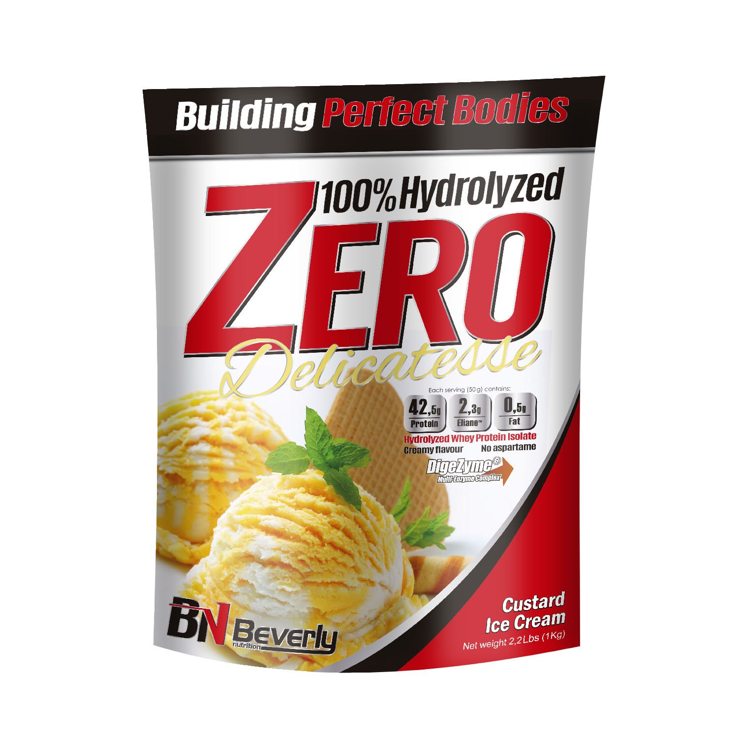Beverly Nutrition For Absat40 Hydrolysed Whey Anabolic Protein Professional Muscle Growth Mass Gainer Custard Ice Cream 1kg