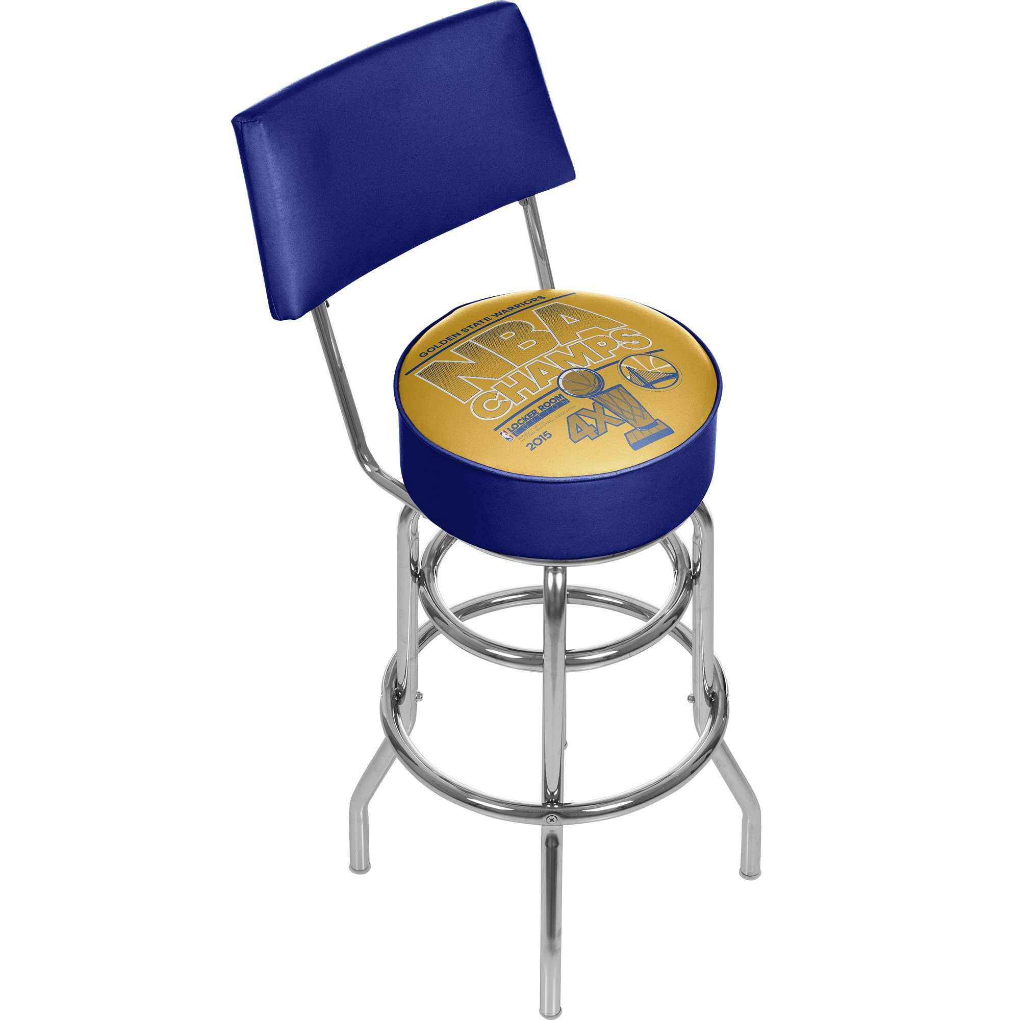 Trademark Gameroom 2015 NBA Champs Golden State Warrior Swivel Bar Stool with Back