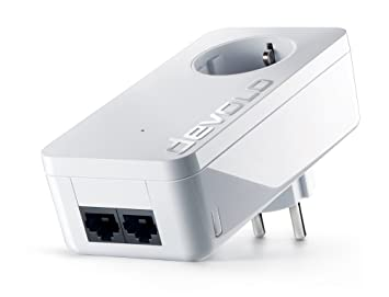 Adaptador devolo dLAN 550 duo+ (500 Mbit/s de velocidad de red, 2