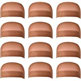 Dreamlover Brown Stocking Wig Caps, 12 Pack
