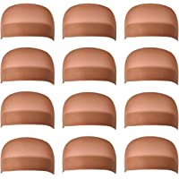 Dreamlover 12 Pack Stocking Wig Caps, Brown