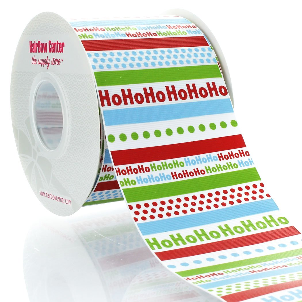 3'' HoHoHo Grosgrain Ribbon 100yd