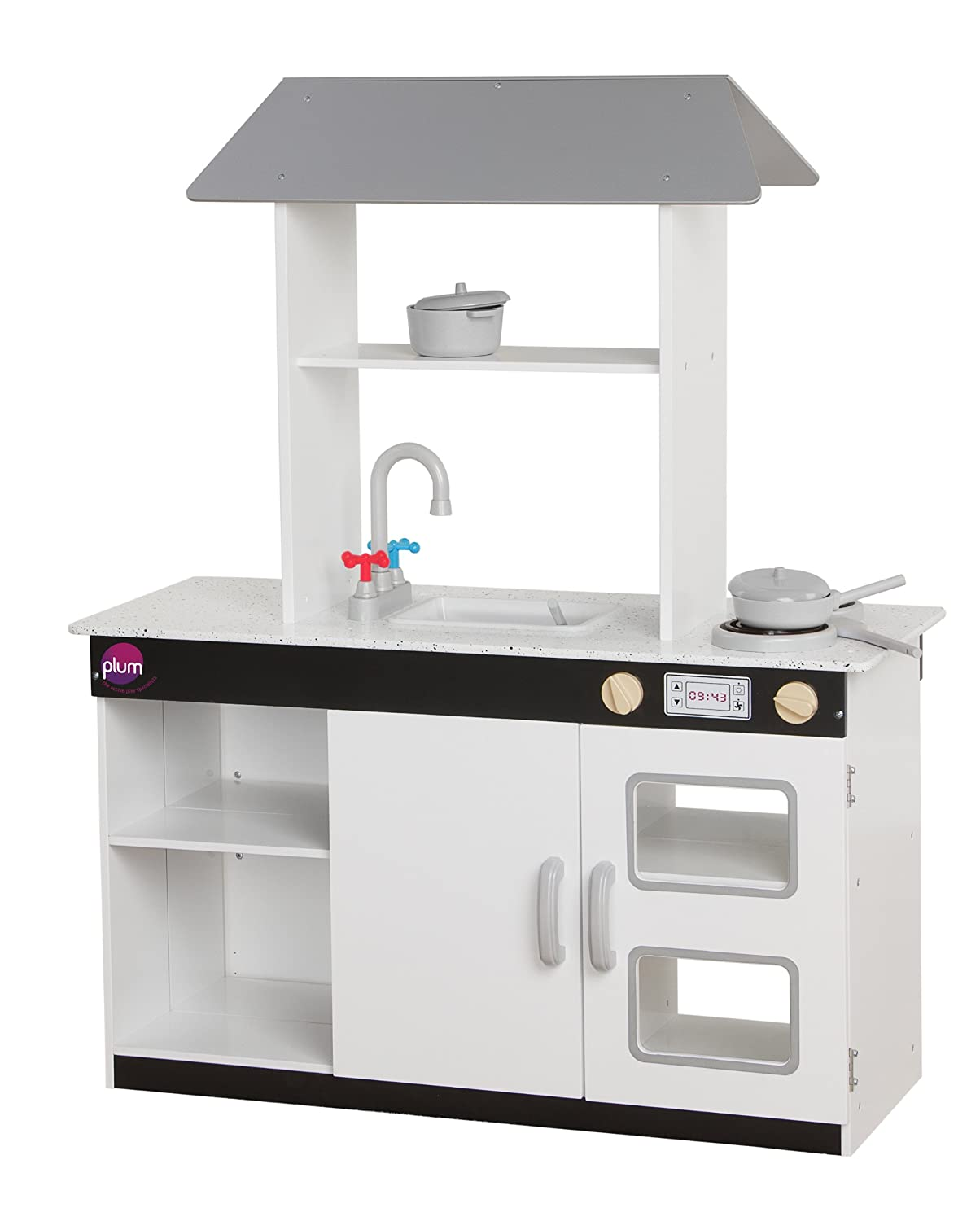 Plum® Boston Wooden Role Play Kitchen With Accessories: Amazon.co.uk: Toys  U0026 Games